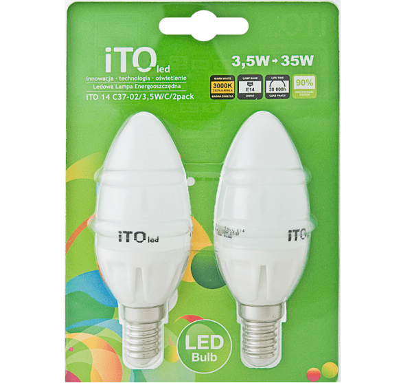 LED žárovka iTOled C37-02 3.5W DUOPACK