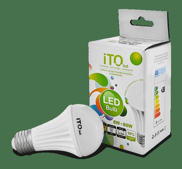 LED žárovka-stmívatelná iTOled A60 8W-D